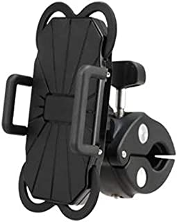 MIRCHE Bike Phone Mount Holder, Motorcycle, Scooter, Bicycle Phone Mount Holder, 360° Rotation, Universal, Adjustable fit All Phones. Holder Works with iPhone 11 Pro Max Samsung S10e Plus/S20 etc