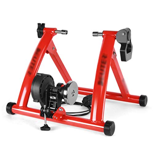 TGhosts Bike Trainer, Indoor Cycling Bike Trainer Roller MTB Road Bicycle Cycling Fitness Workout Tool (Color : Red)