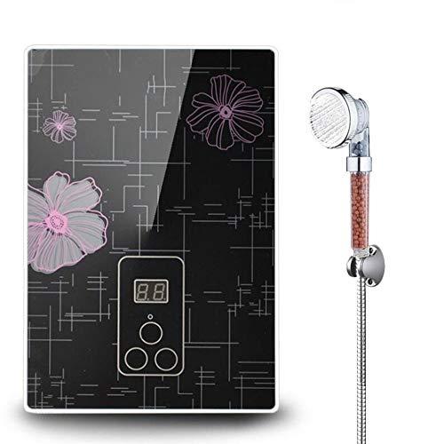 BTSSA Sofortiger Water Heater,LCD Tankless Elektrischer Durchlauferhitzer Verwendet für Badezimmer Küche Intelligente Dusche Heizung