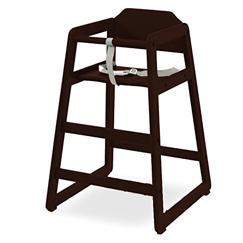 L.A. Baby Restaurant Style Wooden High Chair, Cherry