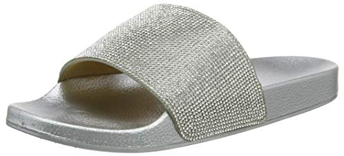 Beck Damen Slides Aqua Schuhe, Silber (Silber 15), 41 EU