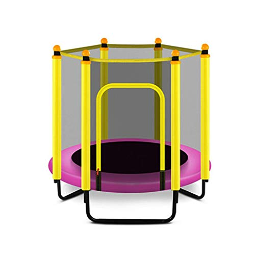 Trampoline Outdoor Trampoline,foldable Bouncing Bed with Guard Net,U-shaped Foot Tube Spring,for Foldable Indoor Fitness Exercise for Children,48in Indoor trampoline (Color : Yellow)