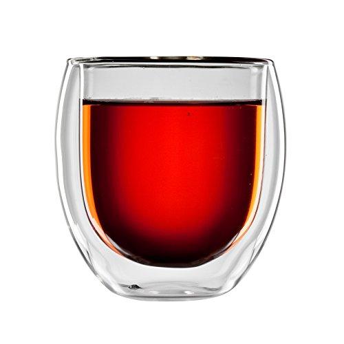 bloomix T-007-400-G Borosilikat Tunis Tee doppelwandiges Thermo-Teeglas 2-er Set