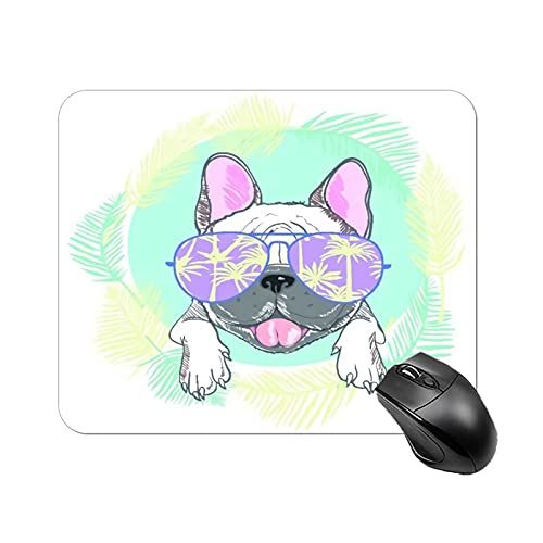 Mouse Pad French Bulldog Head Isolated on White Background for Office Computers Laptop Travel Gaming Working Studying Graphic Designers Gaming pc Felt Desk mat lz 1822cm