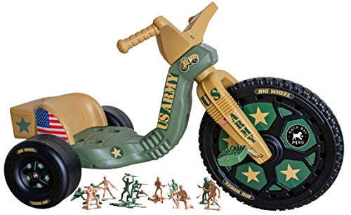 The Original Big Wheel 16 Inch Tricycle Big Wheel for Kids 3-8 Boys Girls Trike - Special Army Edition with 72 Military Figures