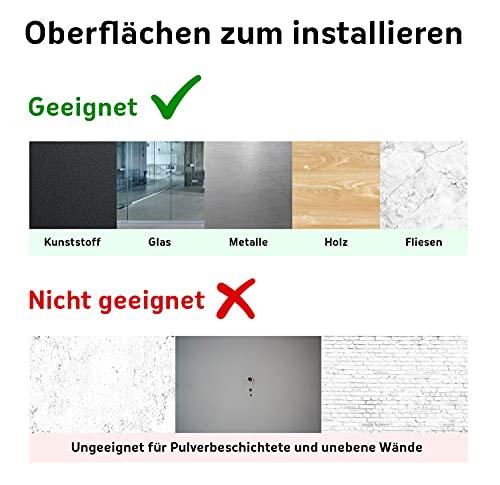 Queence Selbstklebende Magnetische Whiteboard Folie   Weißwandtafel   Whiteboard   Schreibtafel   Folie   Wandfolie   Multifunktionstafelfolie   Farbe: Weiß, Größe:100×200 cm - 5