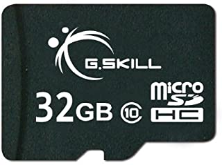 G.Skill Class 6 MicroSDHC Flash Card with SD Adapter (FF-TSDG32GA-C6) Black 32 GB