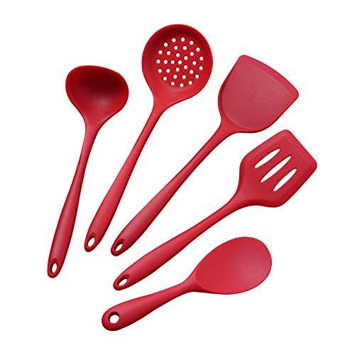 ZGRZ 5pcs ustensiles de Cuisine en Silicone définit des ustensiles de Cuisine résistants à la Chaleur ustensiles de Cuisson ustensiles de Cuisine de Cuisine Set Accessoires