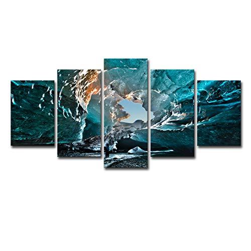 Lihaohao Vijf schilderen, decoratie voor thuis, woonkamer, achtergrond, muur, kunst, wilian, ijs, avontuur, kleurschilderen