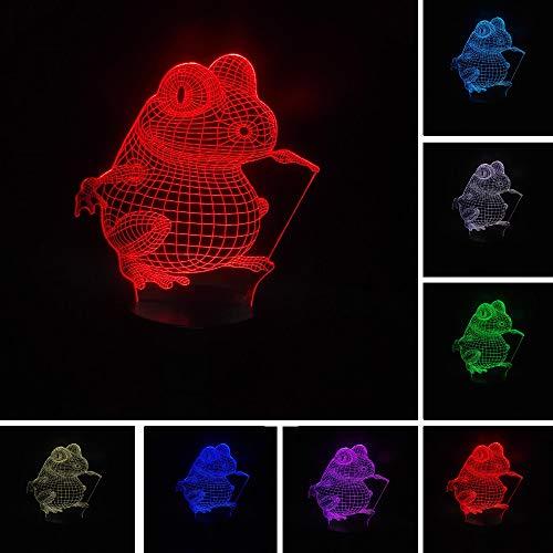 Cartoon Frosch Gradient Weihnachtsspielzeug 3D LED Nachtlicht USB Tischlampe Kinder Geburtstagsgeschenk Nachtdekoration am Bett