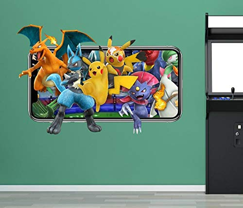 Stickers muraux Pokémon Sticker mural mobile jeu vidéo autocollant décoratif mural vinyle 3d enfants chambre