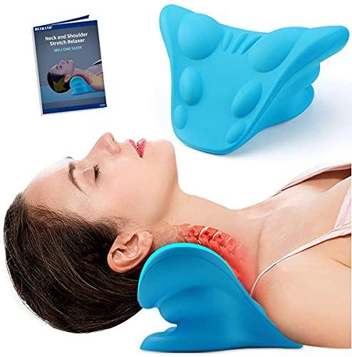 Camilla de cuello, almohada ortopédica, relajante de cuello y hombro para alivio del dolor de TMJ y alineación de la columna vertebral cervical, almohada quiropráctica para aliviar el dolor de cuello