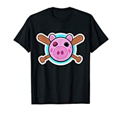Cool pig design with Piggy head and baseball bats. A great gift to girls and boys who love online gaming with other players. Great gift to gamer kids who love gaming and watching gaming videos online. Popular game character that some say is scary! Co...