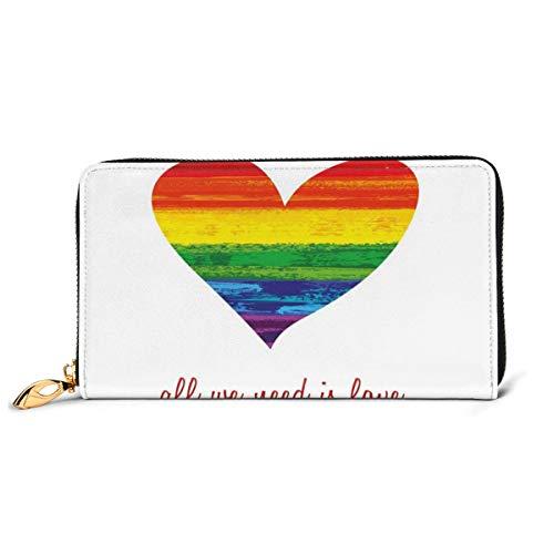 Women's Long Leather Card Holder Purse Zipper Buckle Elegant Clutch Wallet,...