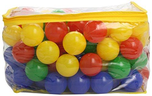 Bieco Bälle für Bällebad | 100 Stück, Größe ca. 6 cm | Bunte Bälle | Kinder Bällebad Bälle | Plastic Balls | Geeignetes Bällebad für Babys, Bällebad Kinder oder als Bällebad für Hunde