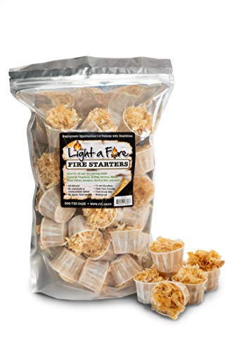Light-A-Fire 100% All Natural Fire Starters.15-20 Minute Burn for BBQ, campfire, charcoal, fire pit, wood & pellet stove, 30 Extra Large, Waterproof for Indoor/Outdoor