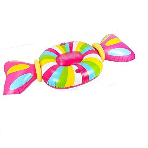 SMEJS Grande Gonfiabile Candy Floating Row for Adulti Nuoto Circle Giochi con l'aqua Giocattolo Gonfiabile Kayak Gonfiabile for Adulti Monte Piscina