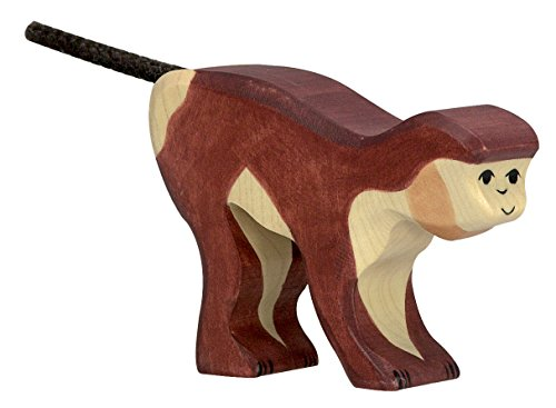 cama24com AFFE Safari Holzfigur Holzspielzeug von Holztiger mit Palandi® Sticker