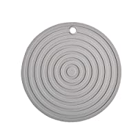 BINGFANG-W ラウンド断熱パッドシリコーンカップコースターノンスリップポットプレイスマットキッチンアクセサリー 贈り物 (Color : Grey)