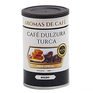 Aromas de Café - Café Dulzura Turca 100% Molido Arábica Aroma Dulce y Sabor Suave a Almendra con Granos de Colombia y Brasil, 100 gr