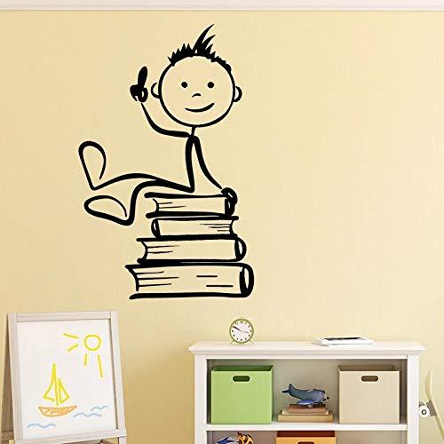 Etiqueta engomada de la pared del vinilo de la sala de estar de la pintura de la historieta