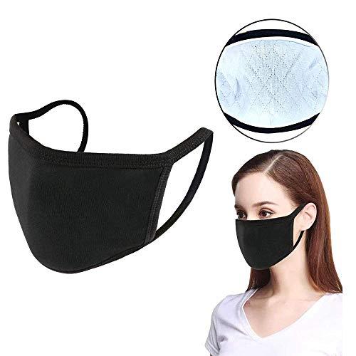 5PCS-Fashion-Protective-Unisex-Black-Dust-Cotton-Washable-Reusable-Cotton-Fabric