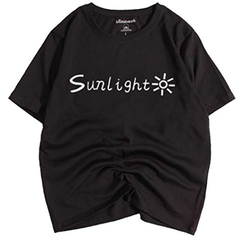 Gaben Sunlinght Body Shirt Short-Sleeved Women Cool and Handsome Street Style Bf Black