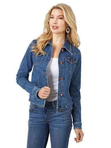 Wrangler Damen Denim Jacket Western-Jeansjacke, Dunkles Jeansblau, Medium