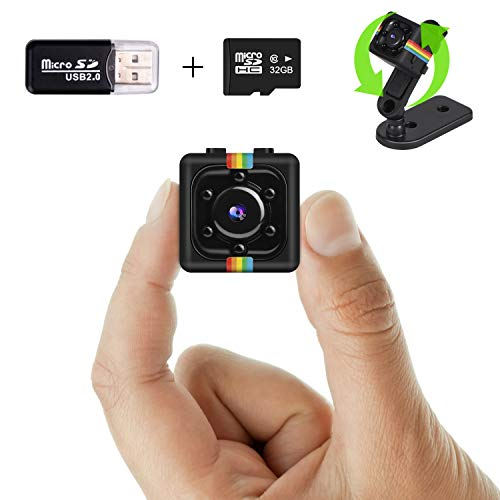 Wireless Mini Spy Camera 1080P HD Video Recording with Audio, 32G SD Card...