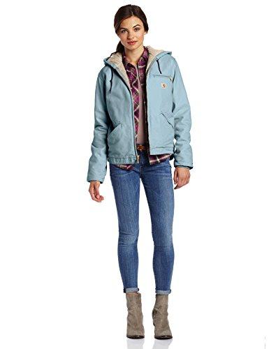 Carhartt Women's Sherpa Lined Sandstone Sierra Jacket (Regular Sizes), Sea Glass, 3X-Large Plus
