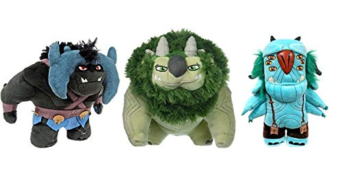 Troll Hunters Tales of Arcadia DreamWorks Plush Figure Bundle of 3 Argh Blinky and Bular Funko Trollhunters Stuffed Animal Collection