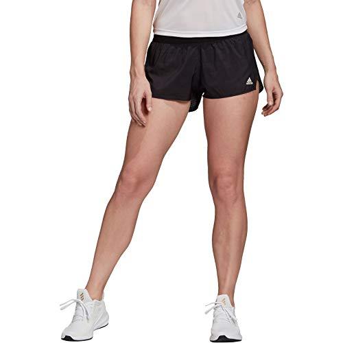 adidas Womens Speed Split Shorts, Black/White, L