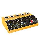 Car Spark Plug Tester Five-hole Standard Comparison Test Spark Plug Tester Wide Working Frequency Spark Tester For 110V/220V Inline Spark Tester With LCD Display Ignition Coil Tester Not Include Spark Plug