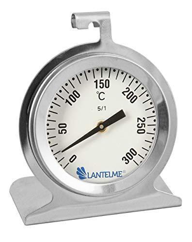 Lantelme Edelstahl Backofenthermometer 300 °C für Backofen Bratofen und Herd analog Thermometer zum Braten und Backen 3245