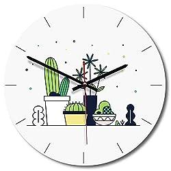 N /A Wall Clock 12 inch Creative Bedroom Wall Clock Children Simple Modern Clock Nordic Design Kitchen Living Room Silent Wall Clocks Home Decor