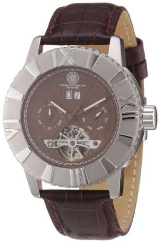Constantin Durmont Shenandoah CD-Shen-AT-LT-STST-BR - Reloj analógico automático para Hombre, Correa de Cuero Color marrón