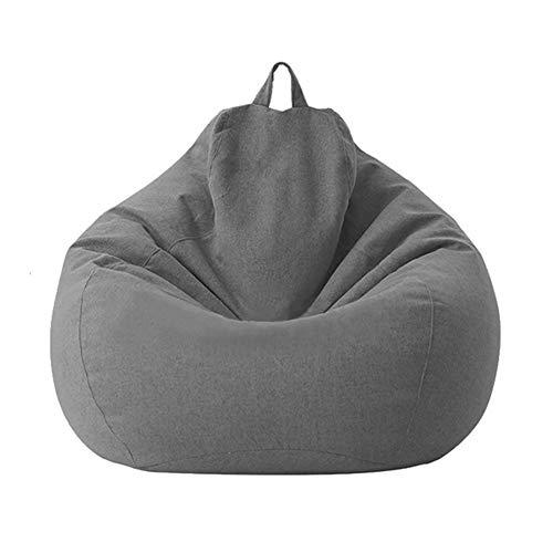 Zchui, Copertura per pouf in cotone e lino, pieghevole, per poltrona e divano, organizer per riporre vestiti e peluche, grande, ergonomica, a prova di umidità, per casa e ufficio
