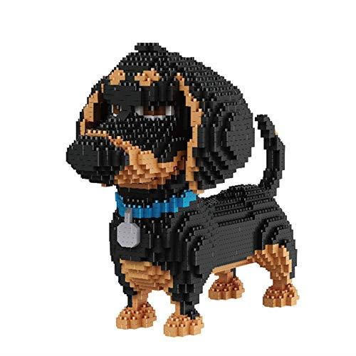 TITST 2000+ Piezas Super Cute Dog Model Building Nanoblock