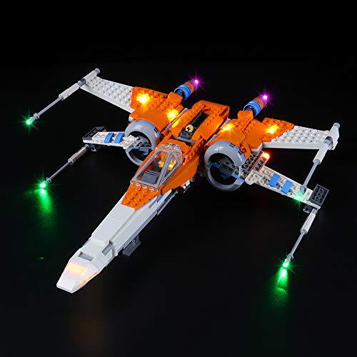 LIGHTAILING Conjunto de Luces (Star Wars Caza ala-X de PoE Dameron) Modelo de Construcción de Bloques - Kit de luz LED Compatible con Lego 75273 (NO Incluido en el Modelo)