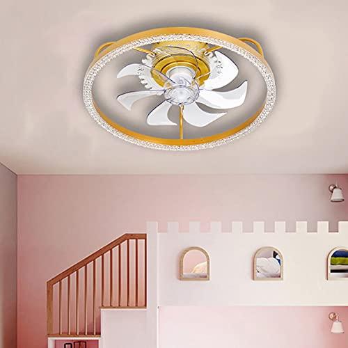 Silencioso Ventilador Techo Con Luz Reversible Infantil Dormitorio LED Regulable Lamparas Ventilador De Techo Con Mando Pequeño Moderno Sala Ventilador Techo Con Luz Y Temporizador