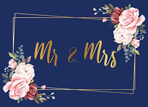 Mr & Mrs Blue Wedding Guest Book: Alternative Wedding Guest Book Perfect Way To Remember Your Wedding.
