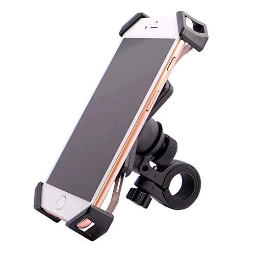 Longzhuo nieuwe fiets telefoonhouder houder draaibaar houder voeten smartphone houder voor motorfiets elektrisch stuur telefoonhouder (zwart), M, zwart