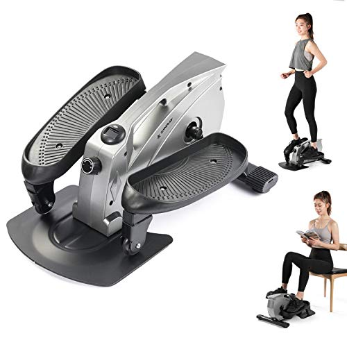 ZINRAY Under Desk Elliptical Machine, Seated/Stand Up Mini Elliptical for Home or Office