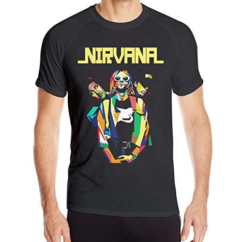 Abfind Nirvana Art Poster Mans Cotton Camisetas de Secado rápido,XXL