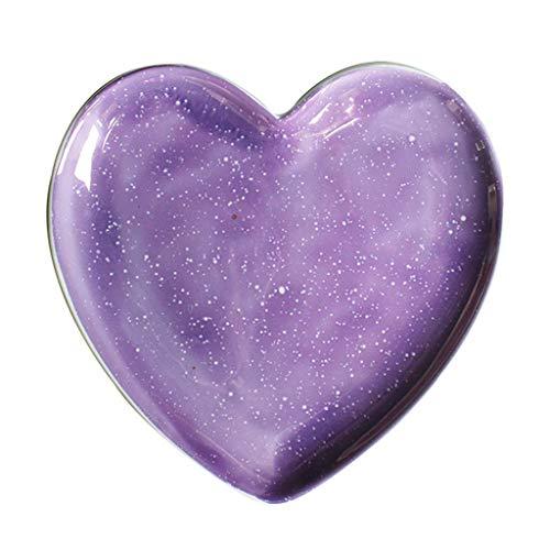 YNHNI Placa púrpura de la Estrella Hueco Placa nórdica Red roja Placa de cerámica de decoración del hogar del Regalo (Color : Purple, Size : 18 * 18 * 2CM)