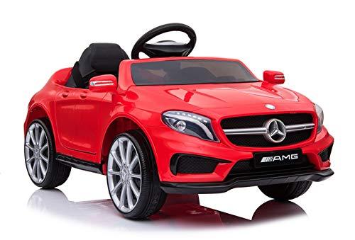 Indalchess Coche Infantil Mercedes Little GLA45 AMG Rojo 12V