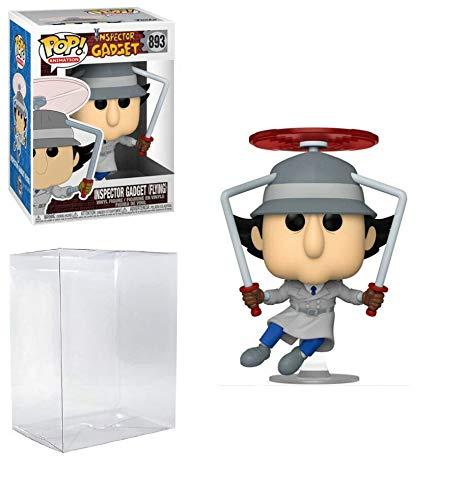 Inspector Gadget Flying Pop #893 Pop Animation: Inspector Gadget Vinyl Figure (bundle con pellicola protettiva in plastica EcoTEK per proteggere il display Box)