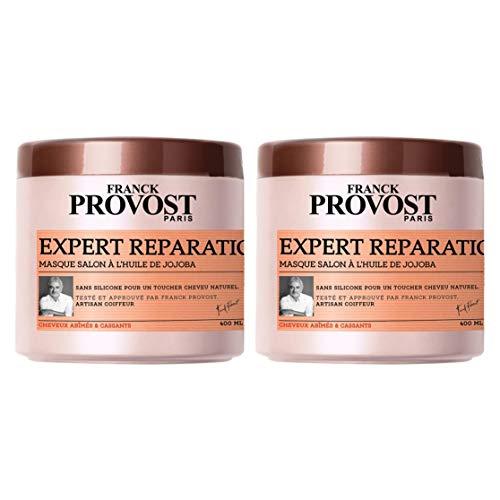 FRANCK PROVOST - Expert Réparation+ Masque Professionnel Répare & Renforce - 400 ml - Lot de 2