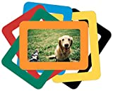 6 Colorful Magnetic Photo Frames Hold 4x6 Inches Pictures, Magnetic Picture Frames for Refrigerator, Locker, File Cabinet, Dishwasher & Other Metallic Surfaces, Magnetic Whiteboard Decor (6 Colors)