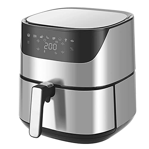YLJYJ Air Fryer Air Fryer 220V 2000W Pantalla sin Aceite Protección de Seguridad táctil para Cocina Reemplazo de freidora (Color: Plateado, Tamaño: 5L) (Silver 5L)